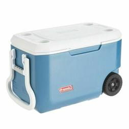 100 quart xtreme 5 wheeled cooler blue