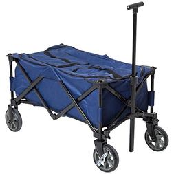 Outsunny 135 Quart Soft-Sided Folding Insulated Cooler Cart