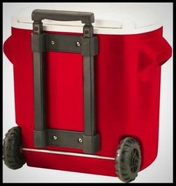 16 Qt. 2-Wheeled Cooler Outdoor Ice Chests Durable Polyureth