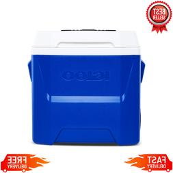 IGLOO 16 qt Laguna Roller Ice Chest Cooler with Wheels, Blue