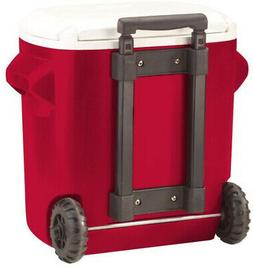 Ice Chest Cooler 16 qt. Wheeled Red Rolling Portable Outdoor