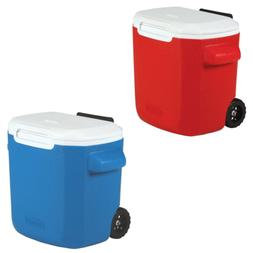 Coleman 16-Quart Performance Cooler with Wheels, Red, Blue