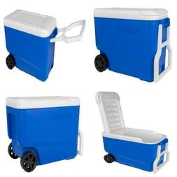 Igloo 38 Qt Wheelie Cool Cooler Camping Portable Ice Box on