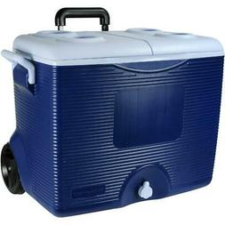 45 Qt. Blue Wheeled Cooler Microban Technology Offers Anti M