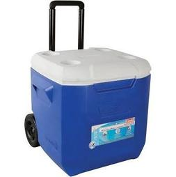 Coleman Company 45-Quart Wheeled Cooler, Blue/White/Grey