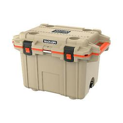 50Q-2-TANORG 50-Quart Elite Deluxe Cooler Tan w/ Orange Trim