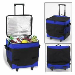 Picnic at Ascot 60 Can Collapsible Rolling Cooler Picnic at