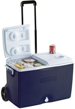 Ice Chest Cooler 60 Qt. Rolling With Cup Holders Wheeled For