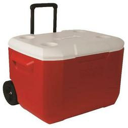 Coleman 60 Qt Wheeled Cooler - Red