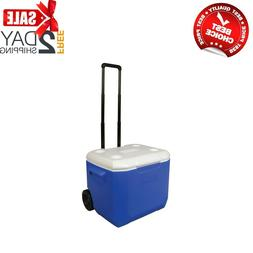 60 Quart Rolling Cooler With Heavy Duty Wheels Telescoping H