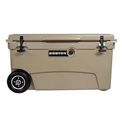 Fatboy 70QT Rotomolded Wheeled Chest Ice Box Cooler Tan