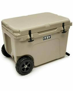 BRAND NEW YETI Tundra Haul Portable Wheeled Cooler TAN