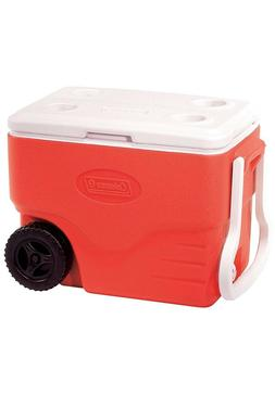 Camping hiking coolers 40-Quart Wheeled Cooler