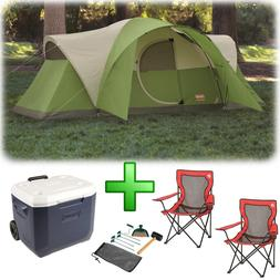 Camping Tent 8 Person Wheeled Cooler 2 Chairs Hiking Outdoor