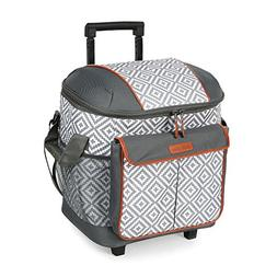 Arctic Zone - Cold Insulated Rolling Tote - Gray
