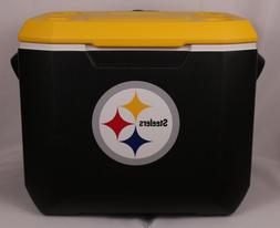 Coleman NFL 60 Quart Wheeled Cooler Pittsburgh Steelers Free