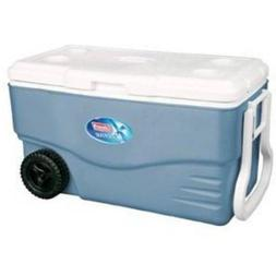 Coleman 100-Qt. Wheeled Cooler / Holds 130 cans/ Two-way han