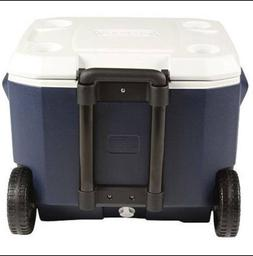 Coleman Cooler Wheeled Ice Chest 50 Qt Outdoor Camping Picni