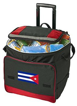 Broad Bay Cuba Rolling Cooler Cuban Flag Cooler Bags with Wh