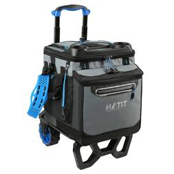 Titan Deep Freeze 60 Rolling Collapsible Cooler Big Wheel Al