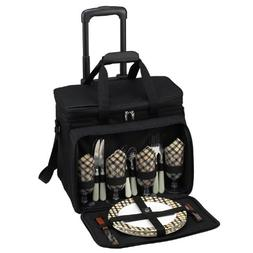 Picnic at Ascot Equipped Picnic Cooler with Service for 4 on