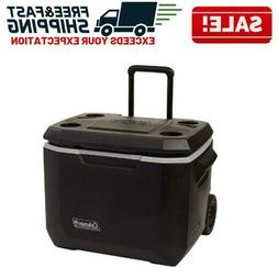 Ice Chest Cooler with Wheels Rolling Roller Wheeled Camping