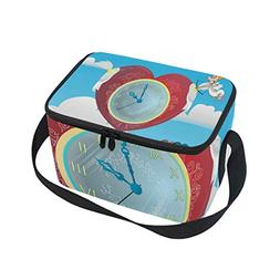 Insulated Lunch Bag Cupid Clock Screen SaverTote Bag Cooler