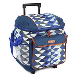 Arctic Zone Insulated Rolling Tote - Blue