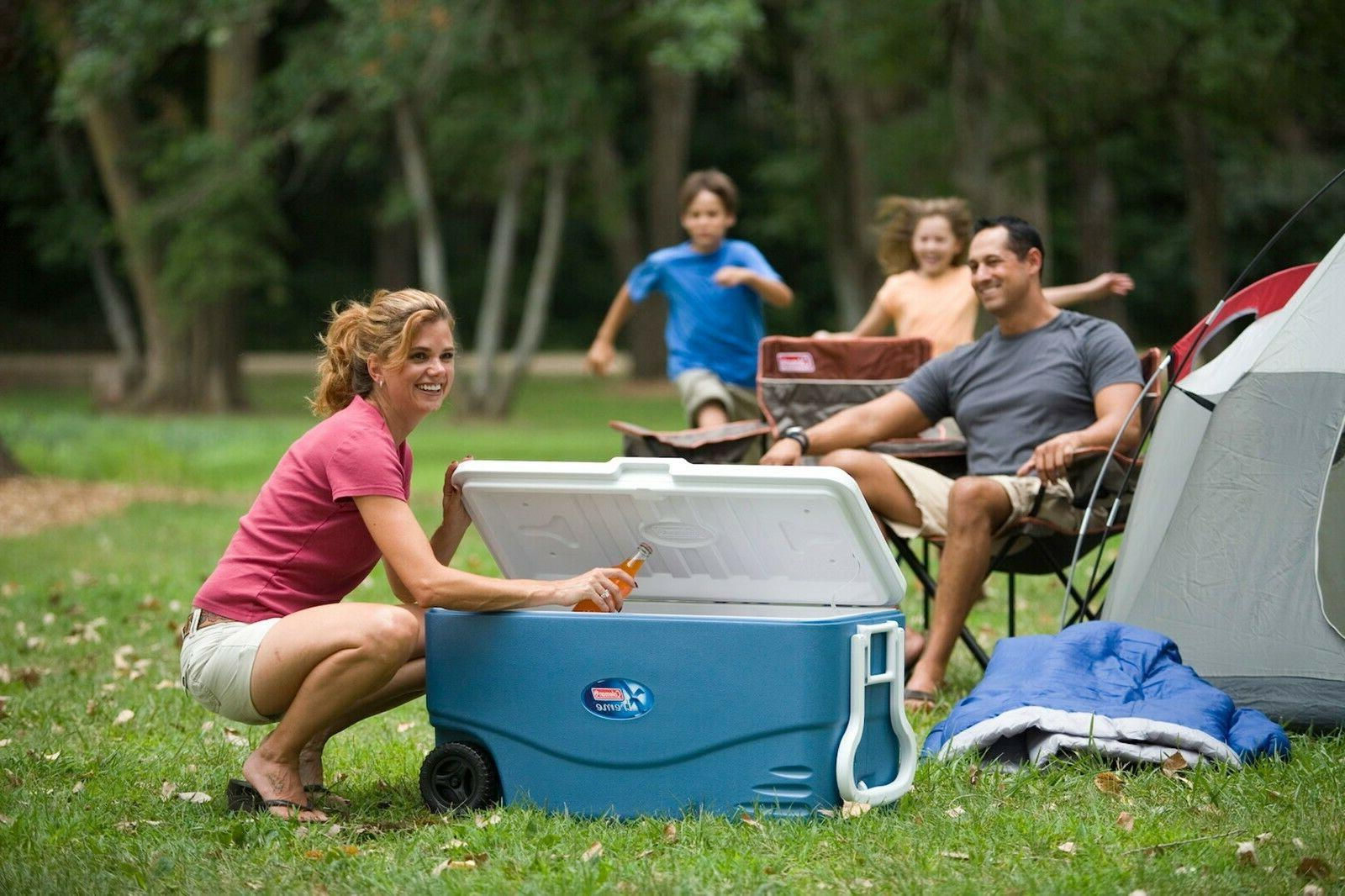 Ice Chest -100 Quart Xtreme 5 Day Heavy Duty Cooler with Whe