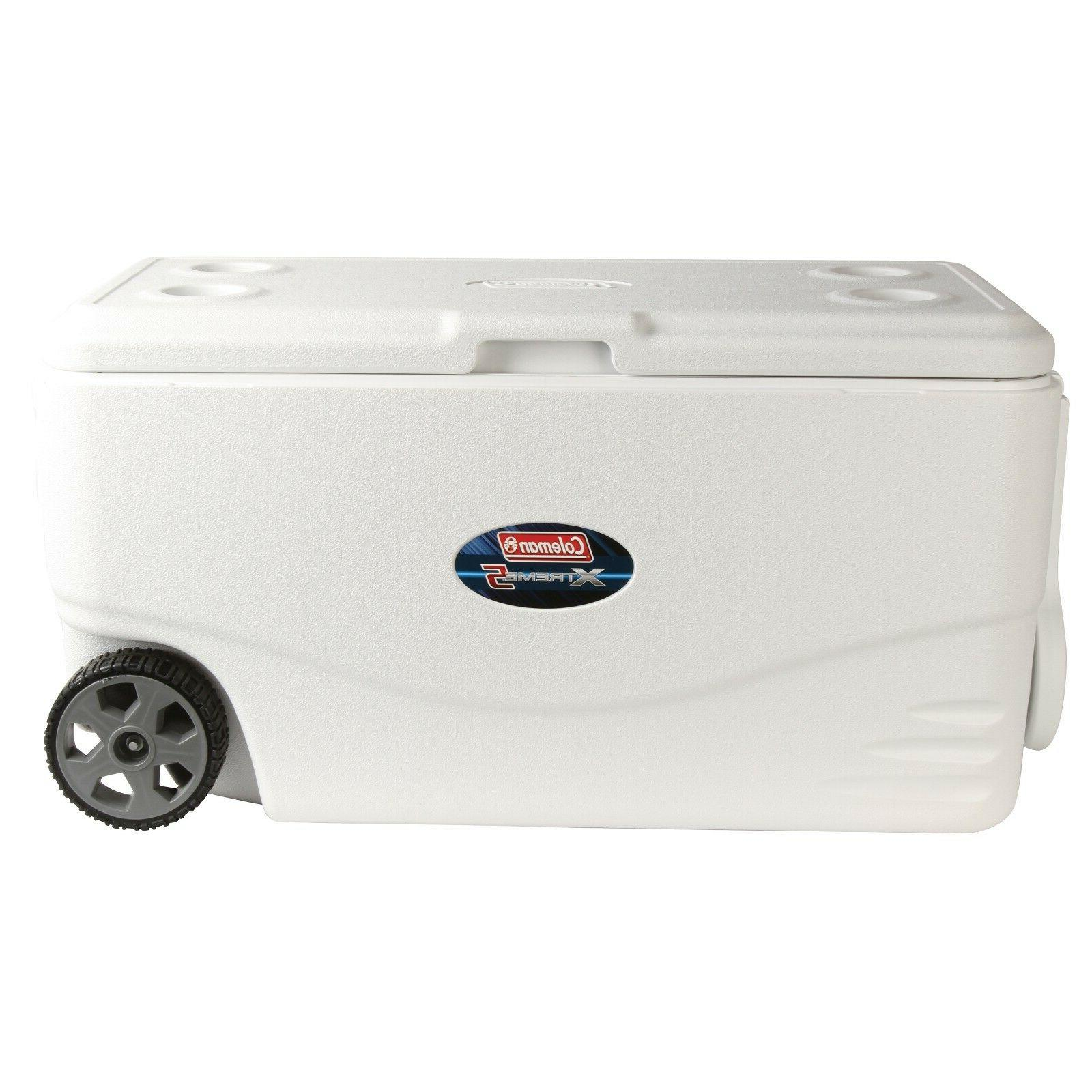 100 qt xtreme 5 wheeled cooler white