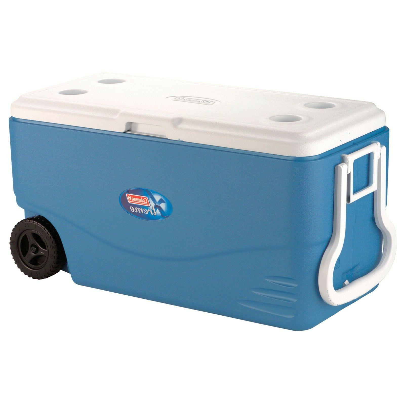 100 Quart Xtreme Day Duty with Wheels, Blue, Ice To