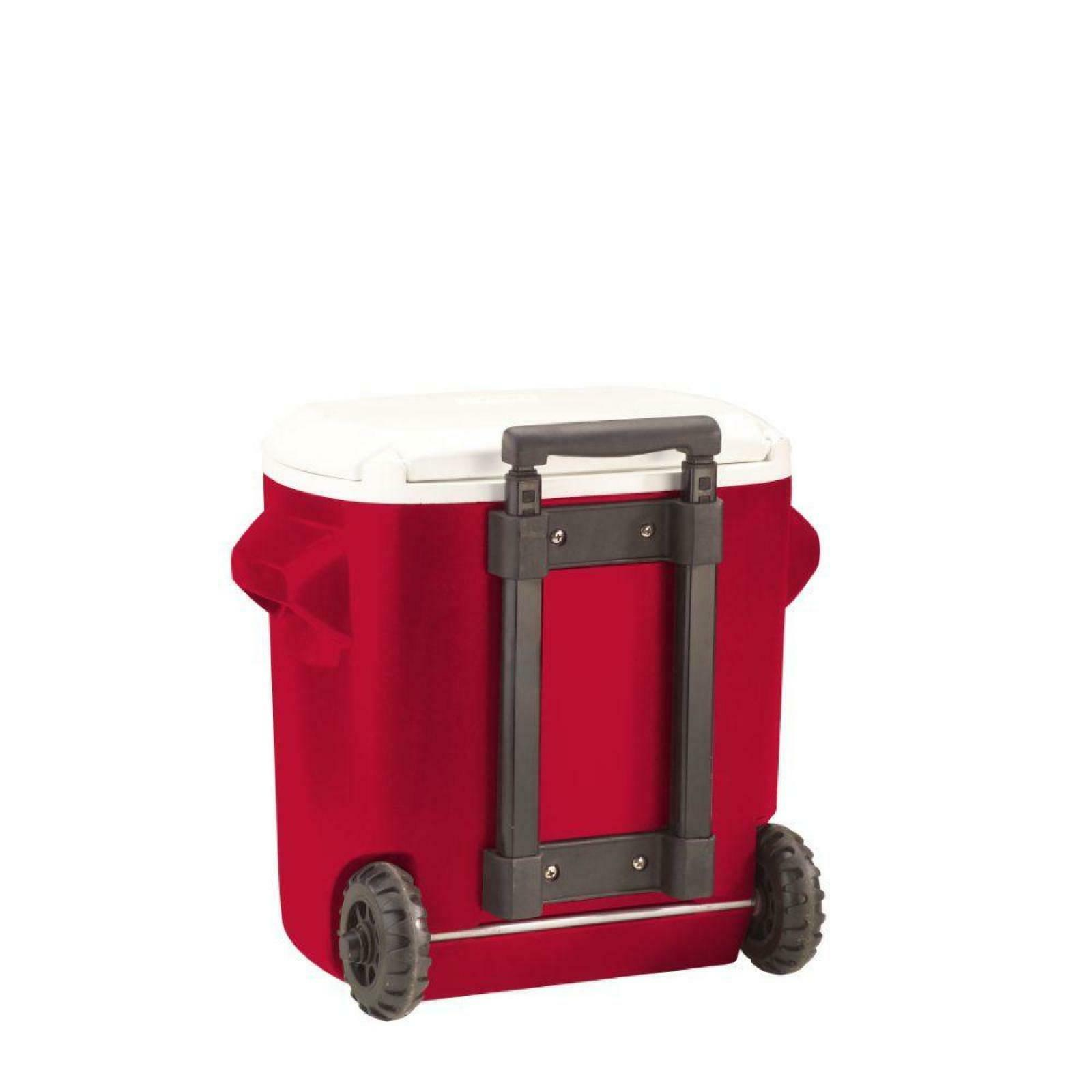16 qt Wheeled Cooler Rolling Ice Chest Portable Outdoor Camp