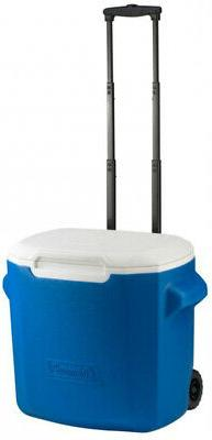 Ice Chest Cooler 16 Qt. With Heavy Duty Wheels Telescoping H