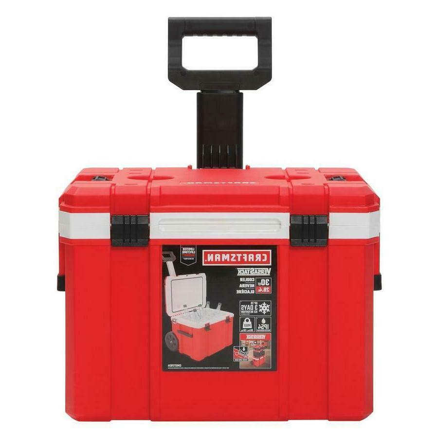 30 quart wheeled insulated chest cooler portable