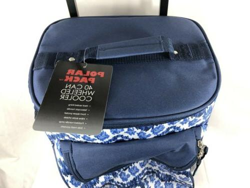 Polar Pack 40 Can Insulated Blue/White Design with