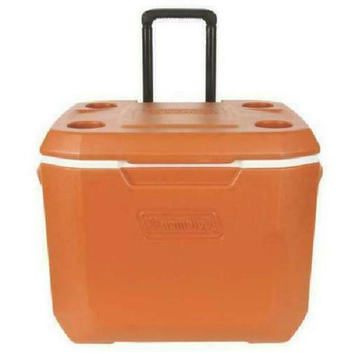 50-Quart Rolling Cooler W/Wheels Xtreme 5-Day Chest Insulated New