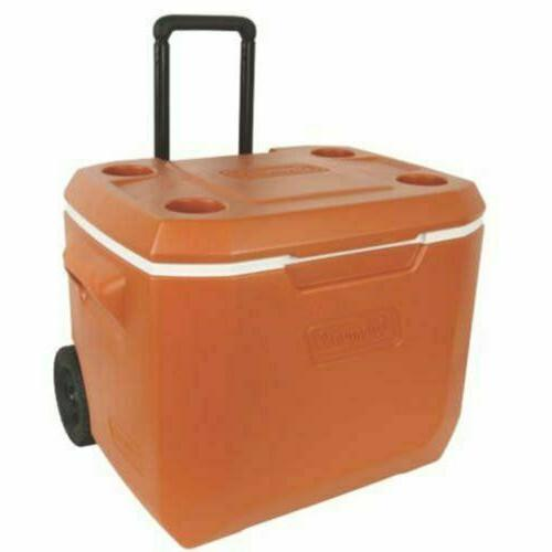 50-Quart Rolling Cooler Xtreme 5-Day Heavy-Duty Ice Chest Insulated