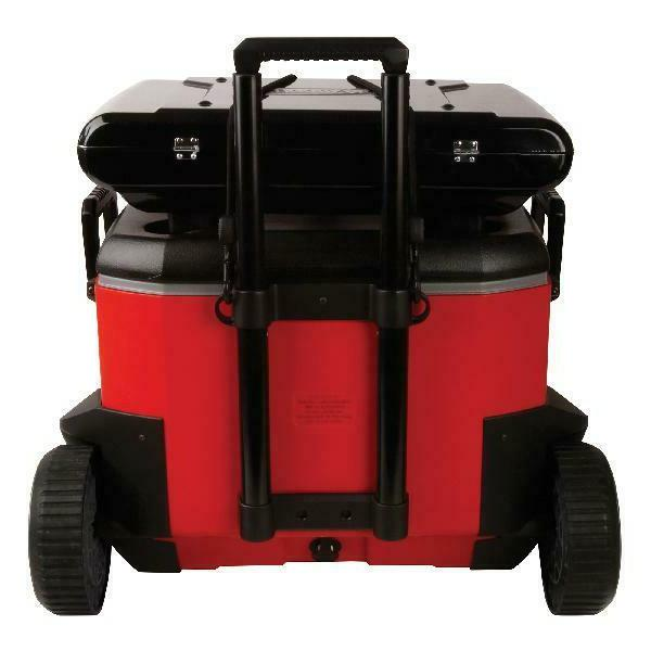 55 Quart Cooler Duty Wheeled Red