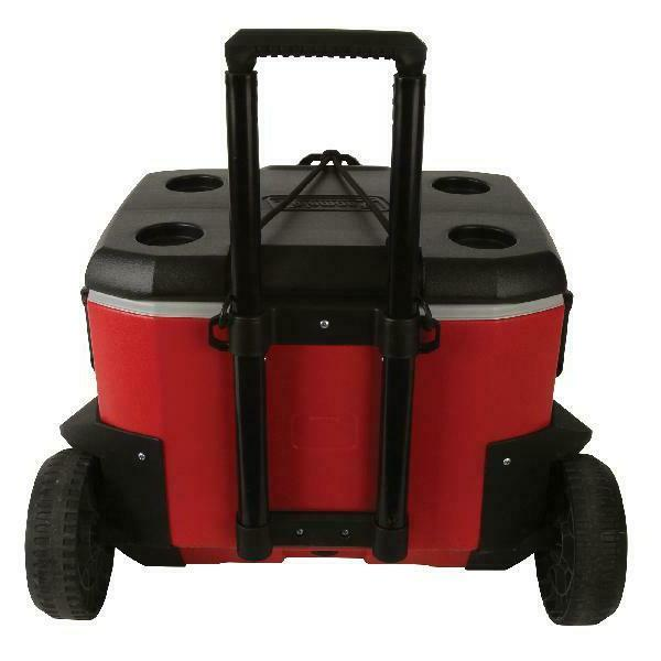 55 Quart High Cooler Duty Rugged Red New