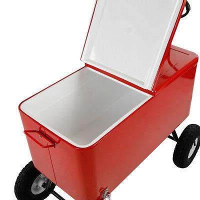 Clevr 80-Qt Cooler Cart Large Park