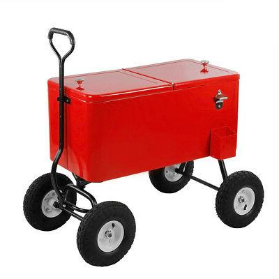 Clevr 80-Qt Cooler Wagon Cart Park