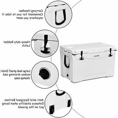 80 Cooler 2 Wheels Ice Chest Duty Warm White