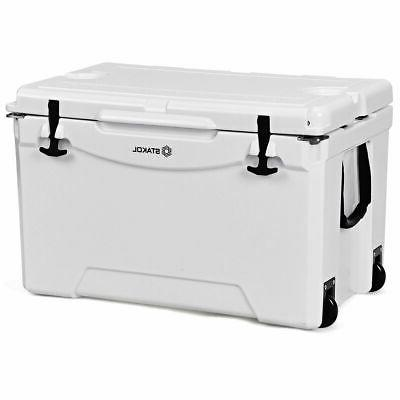 80 quart cooler 2 wheels ice chest