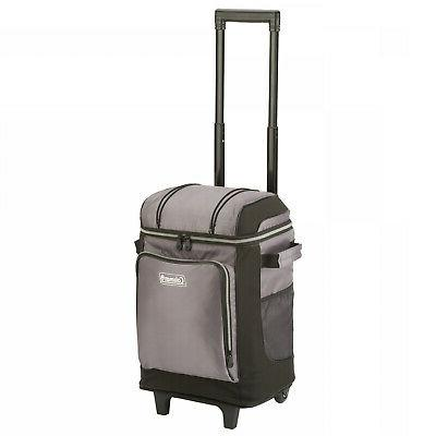 Coleman 42-Can Soft Cooler With Removable Liner and Wheels,