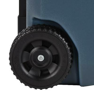 Coleman 50 Cooler Wheeled Can Capacity Slate Cooling
