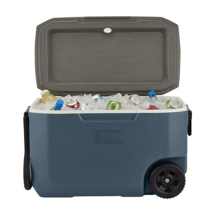 HEAVY DUTY 62 QUART COOLER INSULATED ICE CHEST w/ WHEELS 5DA