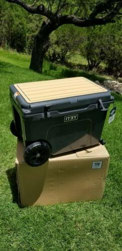 NEW YETI TUNDRA HAUL ICE CHEST COOLER CHARCOAL WHEELED NWT A