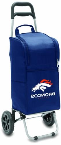 NFL Denver Broncos Insulated Cart Cooler with Wheeled Trolle