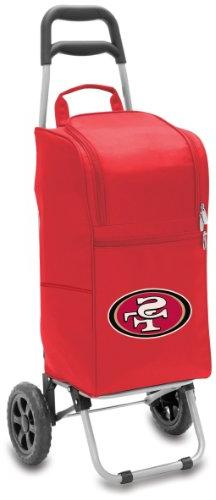 NFL San Francisco 49ers Insulated Cart Cooler with Wheeled T