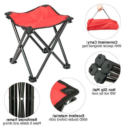 Outdoor Picnic Rolling Stool Red
